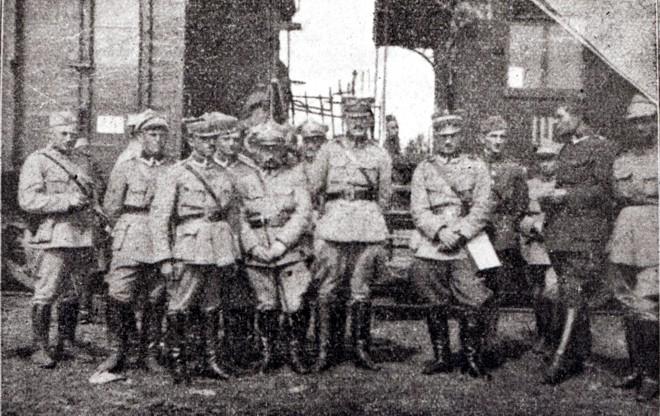 Oficerowie 1. pułku piechoty Dywizji Syberyjskiej